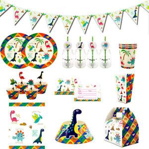 110pcs Party Supplies Set for 12 Kids Child New Dinosaurs Theme Party Decoration