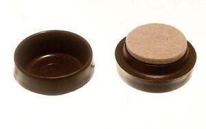 Neuf Roulette Tasses Meuble Protection Sol Glissement Marron Avec Feutre Patin