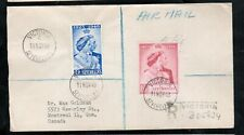 Seychelles #151 - #152 Very Fine Used On First Day Cover To Montreal