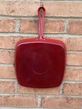 """CAST IRON RED ENAMEL SKILLET FRYING PAN WITH POURING LIP 10"""""""