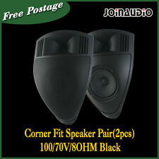 2X30w Corner Fit Speaker Pair(2pcs)100/70V/8OHM Black 2-way