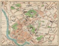 EXETER. Vintage town city map plan. Devon 1950 old vintage chart