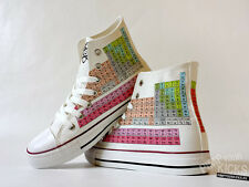 Periodic Table, Chemistry, Science, Custom Made Canvas Shoes