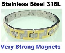 Magnet Magnetic Armband Energy Power Bracelet Health Bio wristband cuff 24k