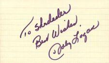 Deceased MLB Player JOHNNY LOGAN Autograph