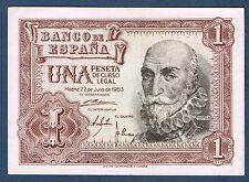 BILLET de BANQUE D'ESPAGNE de 1 PESETA Pick n° 144 du 22 7 1953 en SUP E0042681