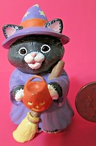 Hallmark Merry Miniature 1993 TABITHA CATSWORTH Catswitch Hollow Cat Kitten