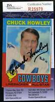 Chuck Howley Jsa Coa Autographed 1971 Topps Authentic Signed Cowboys