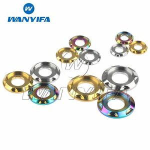 Wanyifa Titanium Washer M5 M6 M8 M10 Decorative Gasket Spacer for Motorcycle Car