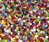 LEGO LOT OF 100 NEW ASSORTED 1 X 1 DOT PLATES BUILDING BLOCKS PIECES