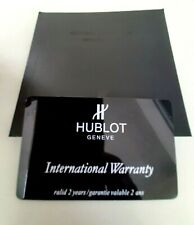Genuine Blank Hublot Watch Warranty Card & Instruction/Warranty Booklet