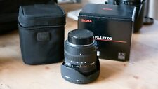 Pentax Wide Angle Lens Sigma EX DC HSM Aspherical IF 10-20mm f/3.5 HSM DC EX