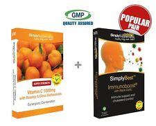 Vitamin C 1000mg 120 Tablets + ImmunoBoost with Black Garlic 60 Tablets
