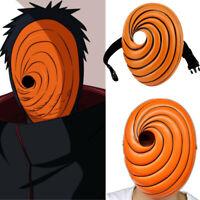 COSPLAY Props Uchiha Obito Orange Resin Party Halloween Tobi Facepiece GiA U_X