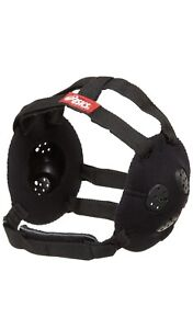 ASICS JR GEL Black Protective Wrestling Ear Guards Unisex One Size