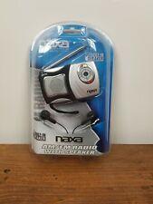 Naxa NR-712 AM/FM Mini Pocket Radio with Built-in Speaker Silver/ Black - Sealed
