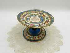 Gorgeous Antique Old Paris Serves Style Floral And Gilt Compote Or Tazza