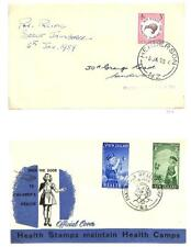 NEW ZEALAND BOY SCOUTS SCOTT #326 FDC USAGE STAMP & B54-55 FIRST DAY COVERS