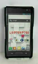 Black/White Silicone Cell Phone Case For LG Optimus L9 P769