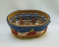 New ListingLongaberger Lucky Charm Basket in Red, White and Blue - with protector