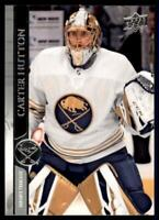 2020-21 UD Series 1 French #22 Carter Hutton - Buffalo Sabres