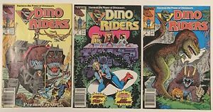 Dino Riders 3x Issue Full Series Run NEWSSTAND (1989) Marvel Comics 1 2 3 Lot