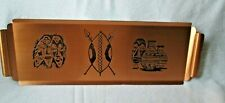 Etched Copper tray from Zambia Africa
