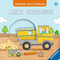 Schiebe und Entdecke * Meine Fahrzeuge * Bilderbuch Schiebebuch * Ravensburger