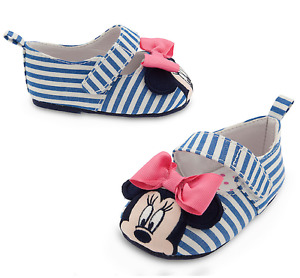 NWT Disney store Minnie Mouse Baby shoes Striped 12-18M