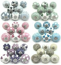 SETS OF 8 CERAMIC KNOBS Drawer Pulls Cupboard Handles Door Vintage Shabby Chic