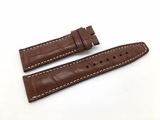 Brand New IWC Brown Leather Band Strap Alligator Style