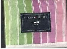 Tommy Hilfiger Stephanie Stripe Twin Bed Skirt Pinks White Green New 1st Quality