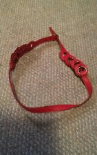 000 Red Goldworld Funky Belt Womens Leather