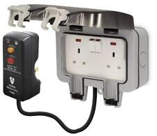 BG Weatherproof Ip66 2 Gang 13a DP Switched Socket with 3m Flex and RCD Plug