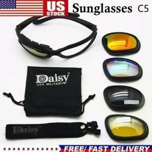 US Stock Daisy C5 Military Tactical Motorcycle Riding Sunglasses Glasses Eyewear