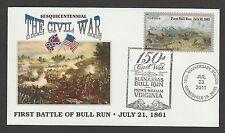 CIVIL WAR SESQUICENTENNIAL* FIRST BULL RUN BATTLE * GAINESVILLE, VA * 7/23/11 *