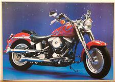 (PRL) 1992 MOTO HARLEY DAVIDSON MOTORCYCLE VINTAGE AFFICHE POSTER COLLECTION