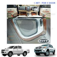 Speaker Wood Style Cover 4 Pcs Toyota Hilux Vigo Kun Sr5 Sr6 Fortuner 08 09 10