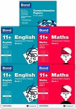 Bond 11+ plus Assessment Papers English Maths Comprehension 9-10 Year Pack of 5