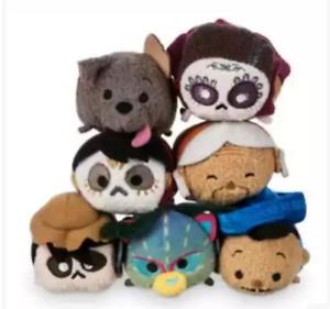 "7 Styles Disney TSUM TSUM COCO Miguel Mini Plush Toys Screen Cleaners 3.5""/9cm"