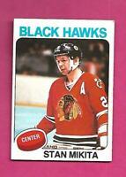 1975-76 OPC # 30 HAWKS STAN MIKITA  EX+  CARD (INV# D2434)