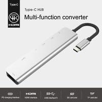 Typ C Hub für MacBook Pro USB-C-Adapter Multiport-SD-Kartenleser 4K HDMI 7 in 1