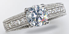 1.5 ct Artisan Carved Ring Russian Quality CZ Imitation Moissanite Simulant 9