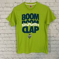 Homage Seattle Sounders FC Soft TShirt Men Sz M Rave Green Made in USA Boom Clap