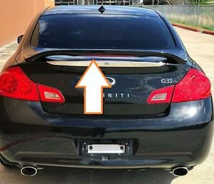 UN-PAINTED GRAY PRIMER FOR 2007-2013 INFINITI G35/G37 4 DR REAR SPOILER W/LIGHT