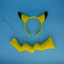 Cute Party Pikachu Headband Ears Tie Tail Costume Party Pikachu Cosplay