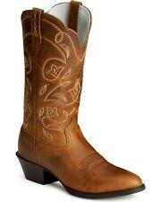 Handmade Men's Dark Tan Leather Cowboy Mexican Western Hunter Jumper Boots