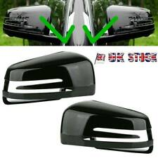 2x Gloss Black Wing Mirror Cover For Mercedes-Benz W204 X204 W212 W221 C300 C218
