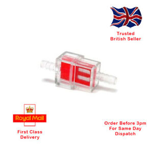 6mm Universal Square Inline Fuel Filter, Motorcycle, Scooter, Kart, Lawnmower.