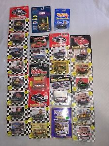 LOT OF 24 NEW OLD STOCK RACING CHAMPION + 1/64 SCALE NASCAR DIE CAST STOCK CARS